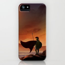 Greek Warrior Watches for Ships iPhone Case