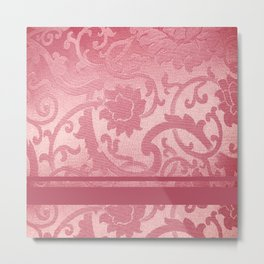 FLORAL SHADOW TAPESTRY | pink Metal Print
