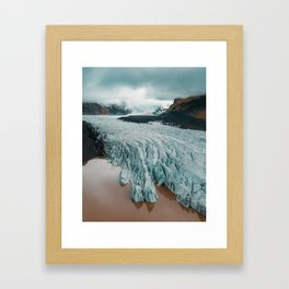 Magnificent glacier in Iceland Framed Art Print