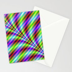 Neon Stripes Stationery Cards