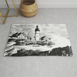 Portland Head Light Lighthouse Maine Rug