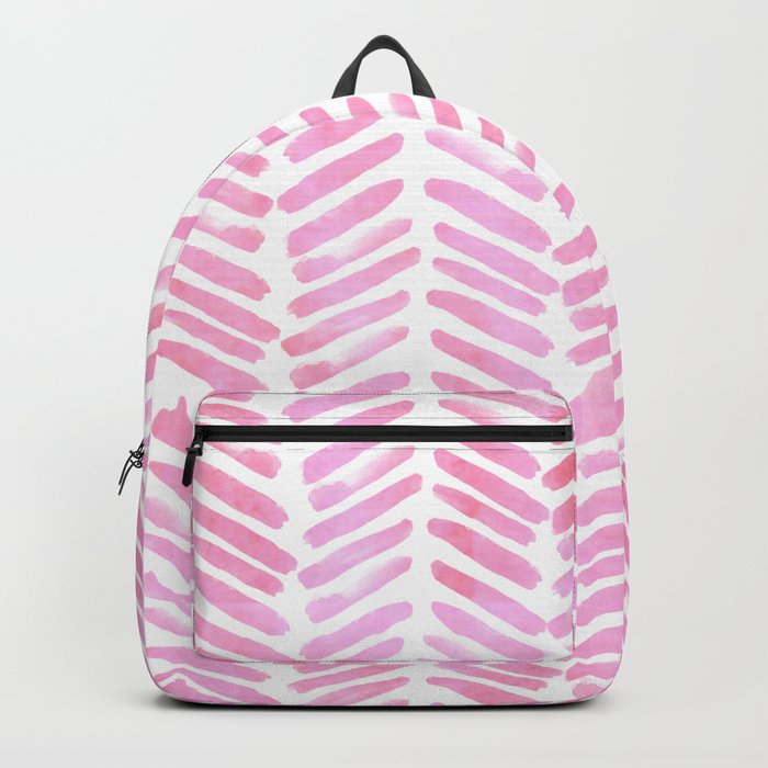 Handpainted Chevron pattern - pink and pink ;) Backpack