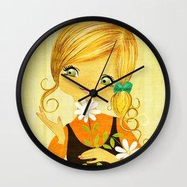 Sunshine Flower Girl Wall Clock