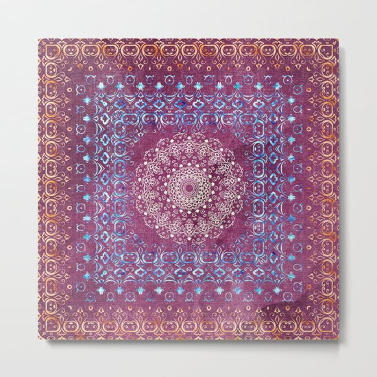 Old Bookshop Magic Mandala Metal Print