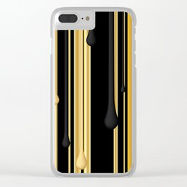 DRIPPING IN GOLD Clear iPhone Case