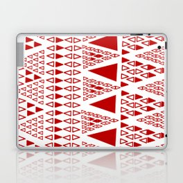 Zig Zag Pattern -  brick red Laptop & iPad Skin