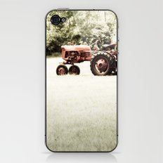 Vintage Red Tractor iPhone & iPod Skin