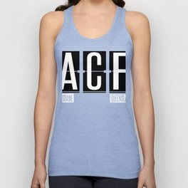 ACF - Brisbane - Queensland Australia - Airport Code Souvenir or Gift Design  Unisex Tank Top