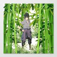 sasuke Canvas Prints featuring Sasuke by tanduksapi