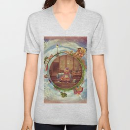 Friendly small Planet Unisex V-Neck