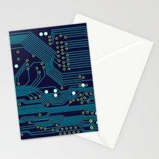 Dark Circuit Board Stationery Cards