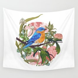 Blue bird Wall Tapestry