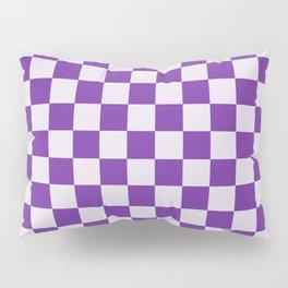 Purple and Lavender Check Pillow Sham