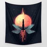 mythology Wall Tapestries featuring Icarus by Freeminds