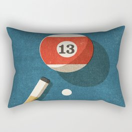 BILLIARDS / Ball 13 Rectangular Pillow
