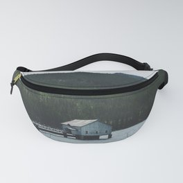 Shack on the Water. Landscape Photograph Fanny Pack