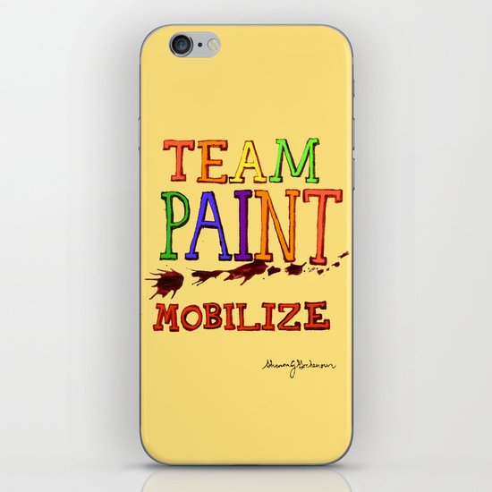 TEAM PAINT MOBILIZE iPhone & iPod Skin