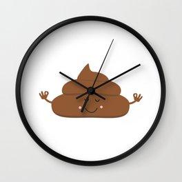 Meditating poo Wall Clock