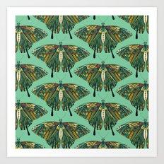 swallowtail butterfly emerald Art Print