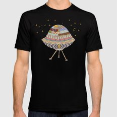 My Spaceship Will Come Mens Fitted Tee Black MEDIUM