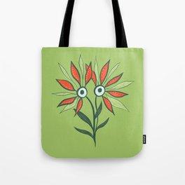 Cute Eyes Flower Monster Tote Bag
