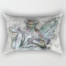 Angel statue painting - female Angel sculpture drawing Rectangular Pillow