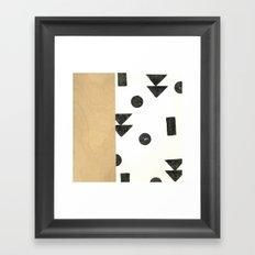 Black and white shapes Framed Art Print