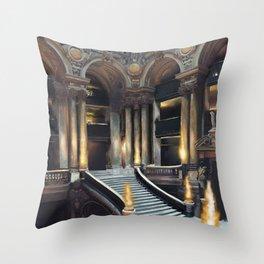 Magique Palais Garnier Throw Pillow