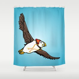 Puffin Wearing A Hat Shower Curtain