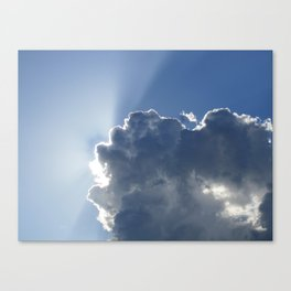 Sun Breaking Through Clouds Canvas Print