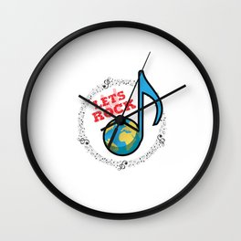 Lets Rock the World Wall Clock