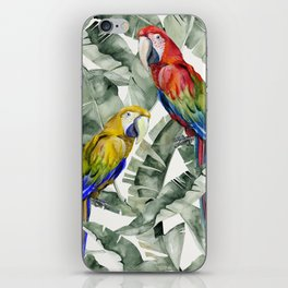 PARROTS IN THE JUNGLE iPhone Skin