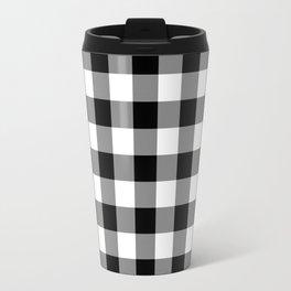 Gingham (Black/White) Travel Mug
