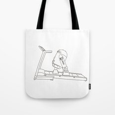 R2D2 black and white Tote Bag