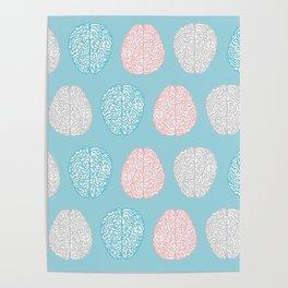 Pastel Brains Pattern Poster
