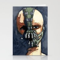bane Stationery Cards featuring Bane by Blue Moon Hippie