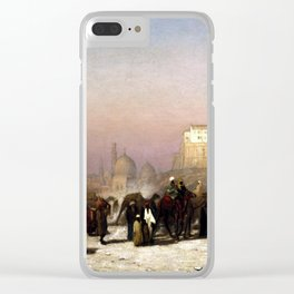 Louis Comfort Tiffany On the Way between Old and New Cairo, Citadel Mosque of Mohammed Ali, and Tomb Clear iPhone Case