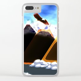 Eagle Soaring (Daylight) Clear iPhone Case