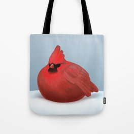 After Christmas cardinal bird Tote Bag