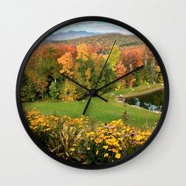 Vermont Foliage Watercolor Wall Clock