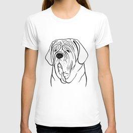 Neapolitan Mastiff (Black and White) T-shirt