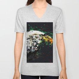 Bird eagle animal art abstract Unisex V-Neck