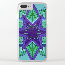 Star Violets Clear iPhone Case