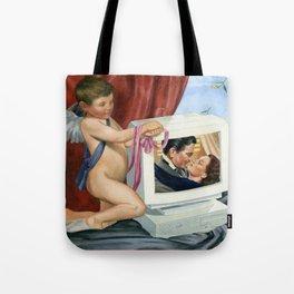 retro computer romance Tote Bag