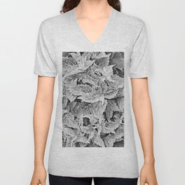 coleus black and white Unisex V-Neck