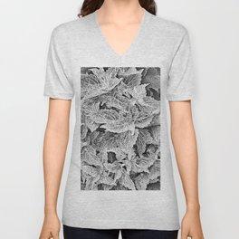 coleus black and white Unisex V-Neck