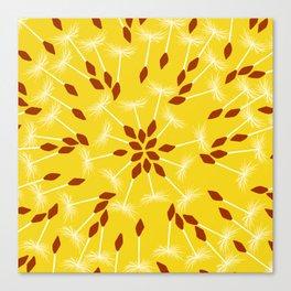 Dandelion Seed Pattern Canvas Print