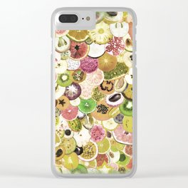 Fruit Madness (All The Fruits) Vintage Clear iPhone Case