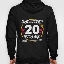 20th 20 year Wedding Anniversary Gift Married Husband Wife print Hoody