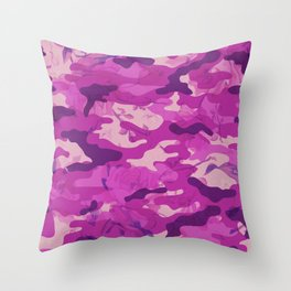Flower Camouflage Throw Pillow